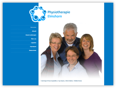 Internetauftritt Physiotherapie Elmshorn